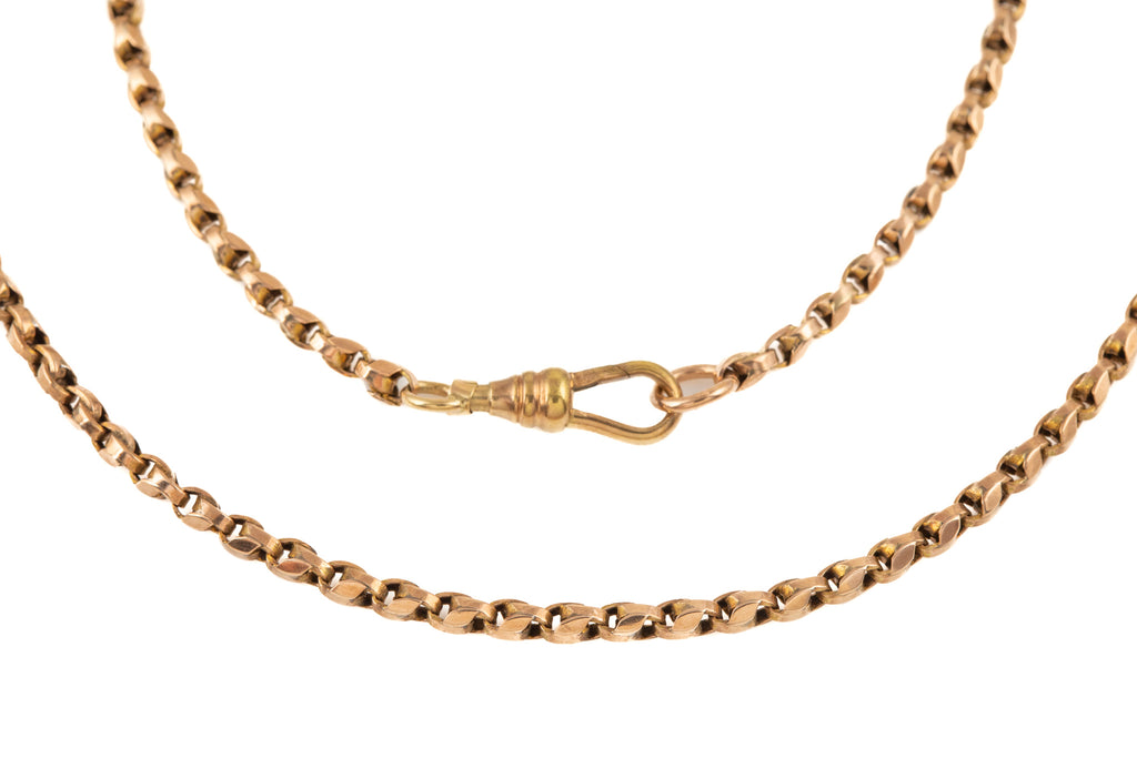"Antique Gold Long Tulip Chain, 59"" (25.5g)"
