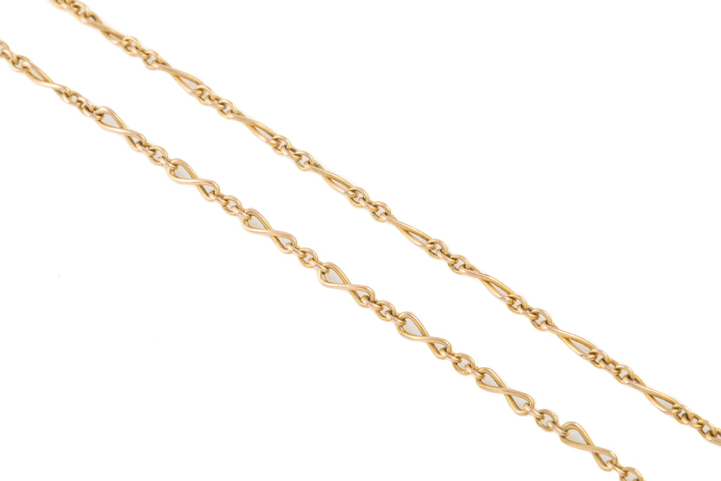 "Antique Gold Infinity Link Chain, 16"" (5.2g)"