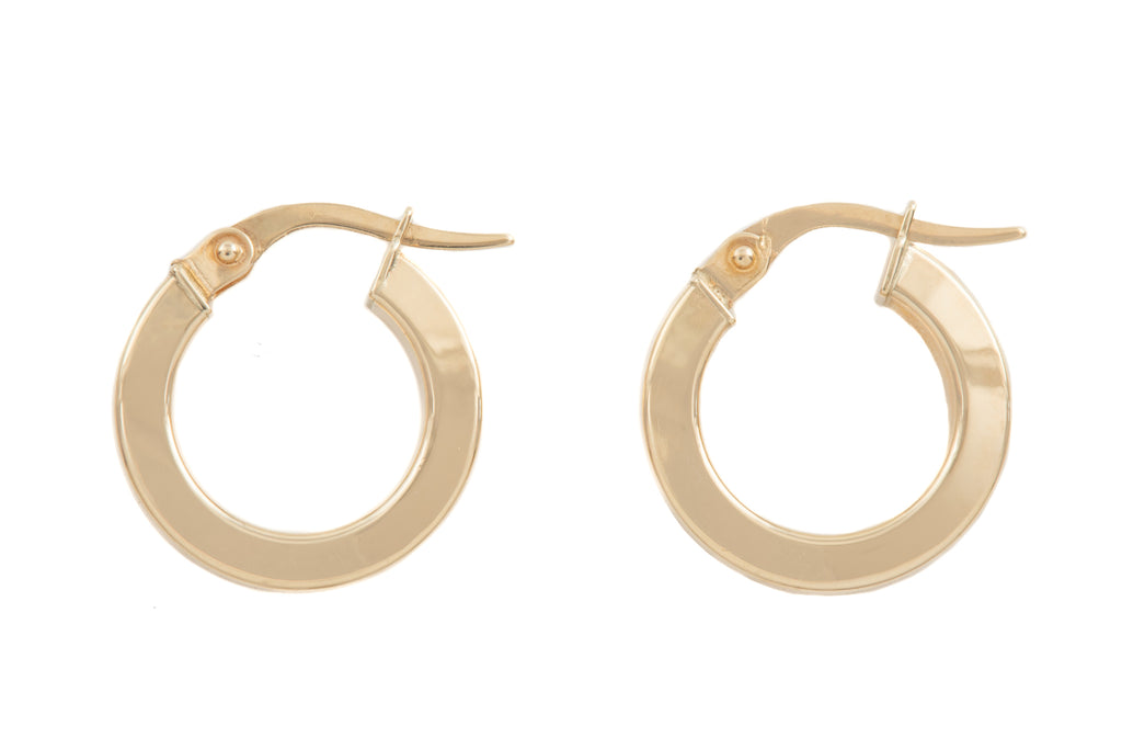 9ct Gold Hoop Earrings, (16mm)