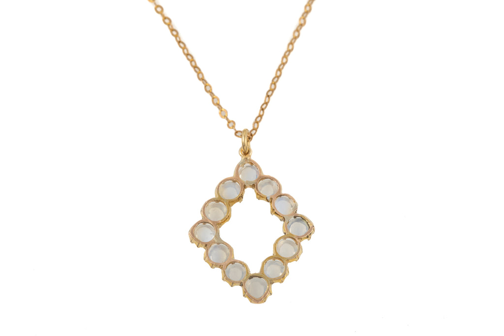 "Victorian Gold Moonstone Pendant (3.12ct), with 21 & 1/4"" Chain"