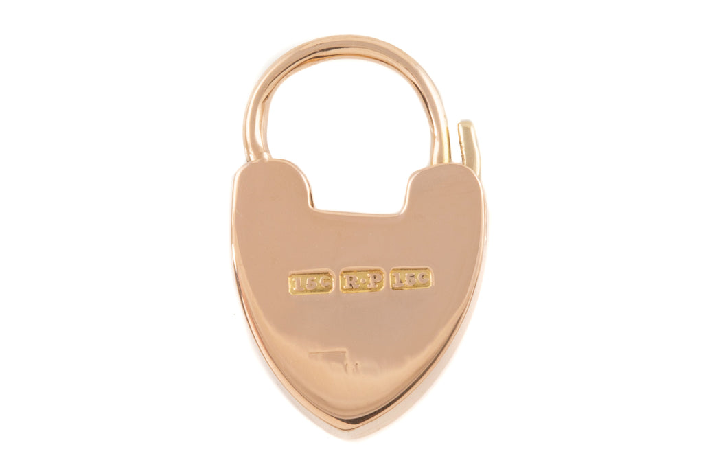Antique 15ct Gold Heart Padlock Pendant