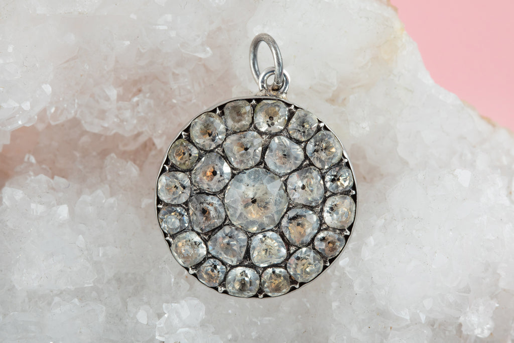 JEWEL ADVENT GIVEAWAY! -Georgian Silver Black Dot Paste Round Pendant