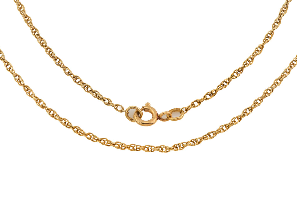 "Solid 9ct Gold Prince of Wales Chain, 17"" (2.3g)"