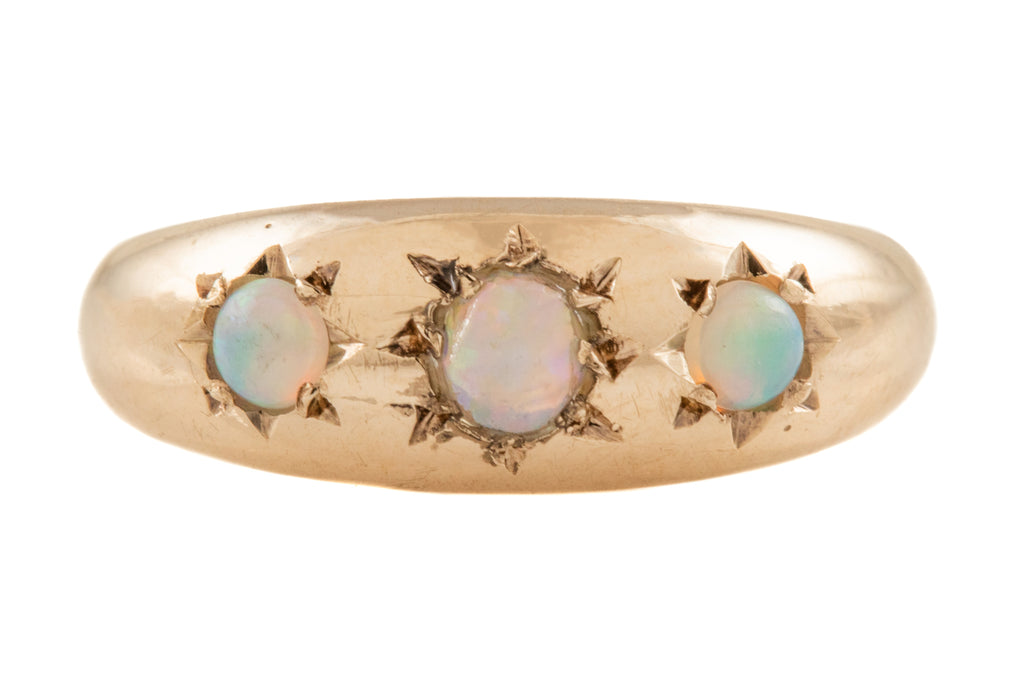 "Victorian Revival Gold Opal ""Gypsy"" Ring, (0.18ct)"
