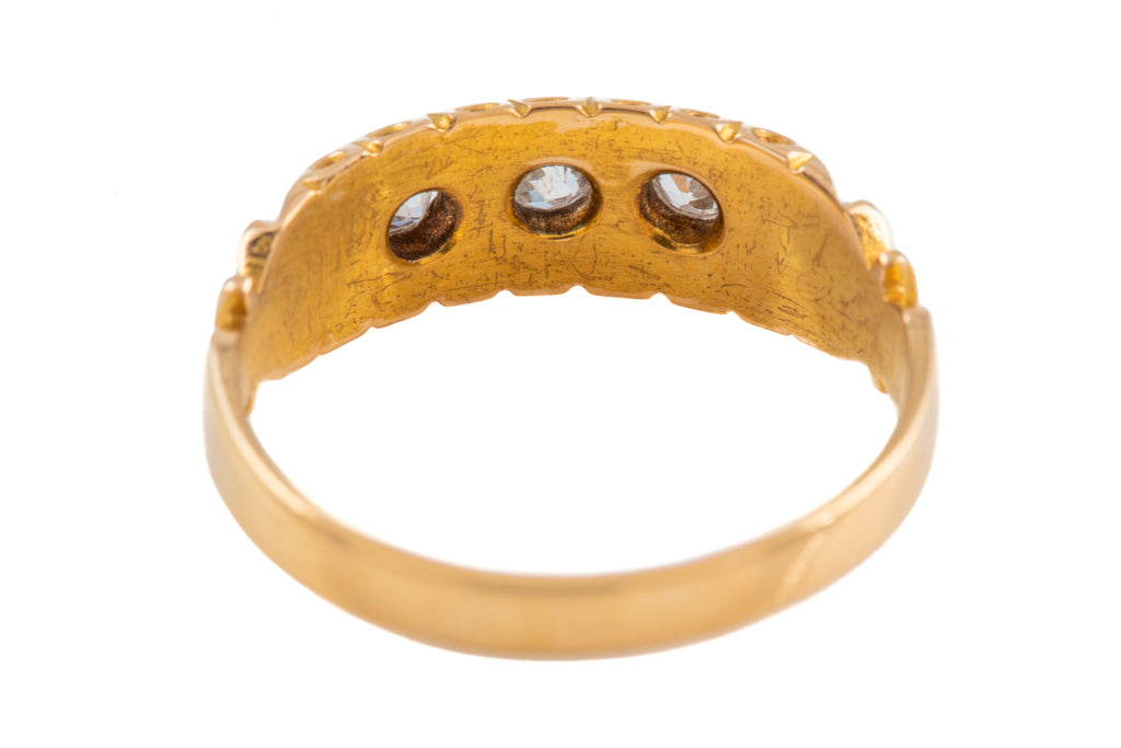 Victorian 18ct Gold Diamond Gypsy Ring (0.24ct) c.1882