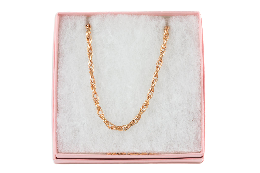 "Antique 15ct Rose Gold Prince of Wales Chain, 18 & 1/4"" (8.8g)"