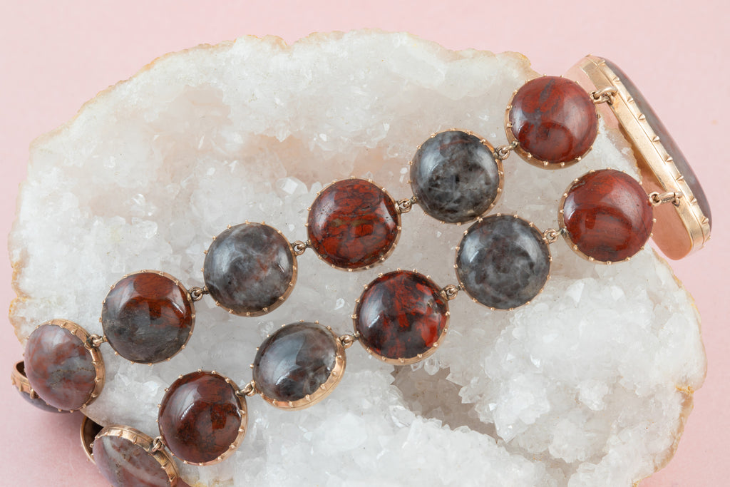 Georgian Gold Agate Bracelet