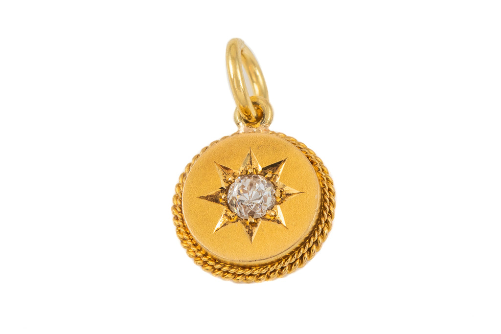 "Victorian 15ct Gold Diamond ""Star"" Pendant"