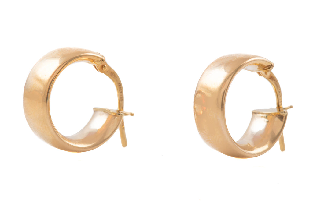 9ct Gold Chunky Hoop Earrings