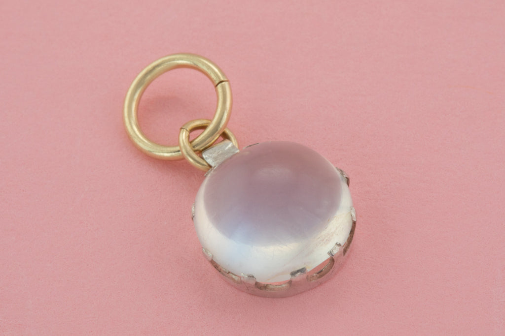 Victorian Silver Moonstone Charm, (2.50ct)