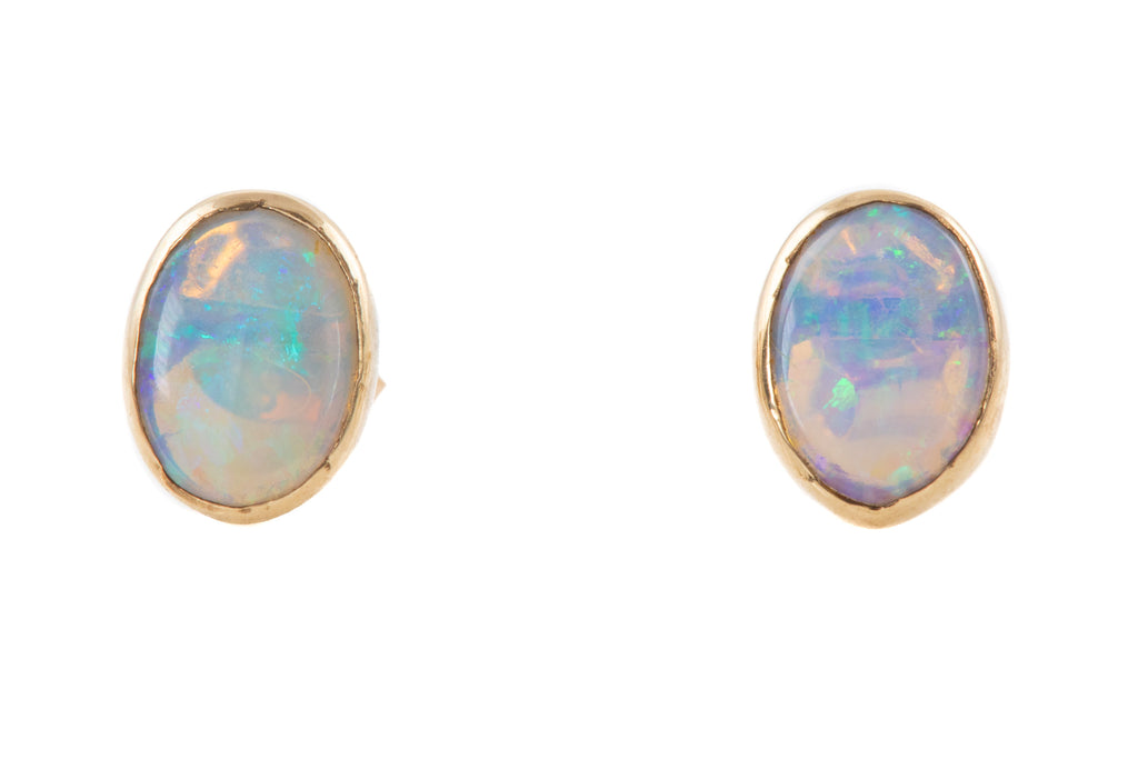 9ct Gold Opal Stud Earrings (0.52ct)