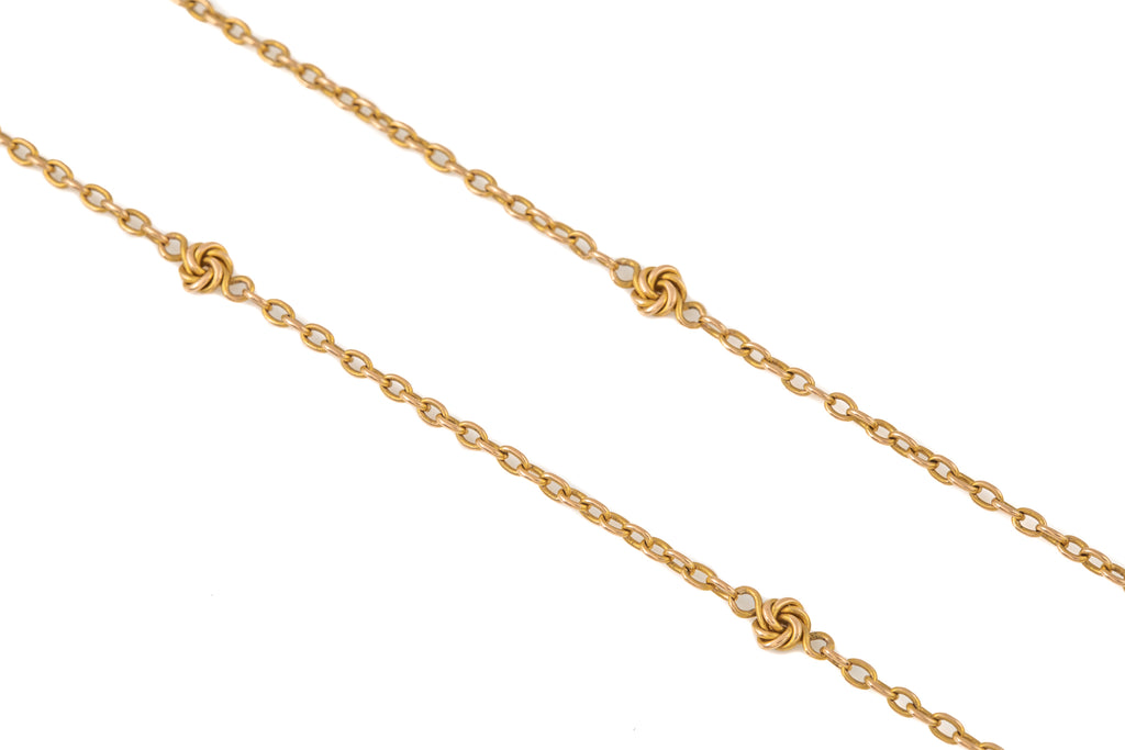 "Antique 15ct Gold Fancy Chain with Knotted Spacers, 32 & 1/2"" (14.9g)"