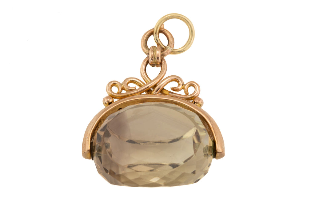 Antique Gold Citrine Spinner Fob (20.00ct) c.1887