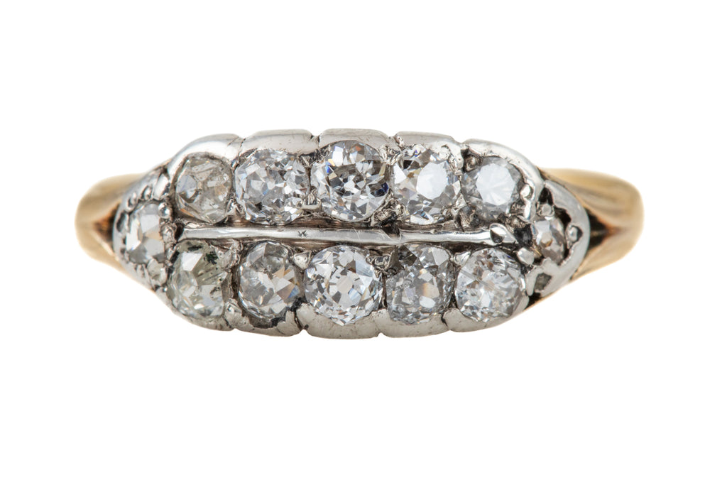 Victorian 18ct Gold Diamond Dress Ring (0.66ct)