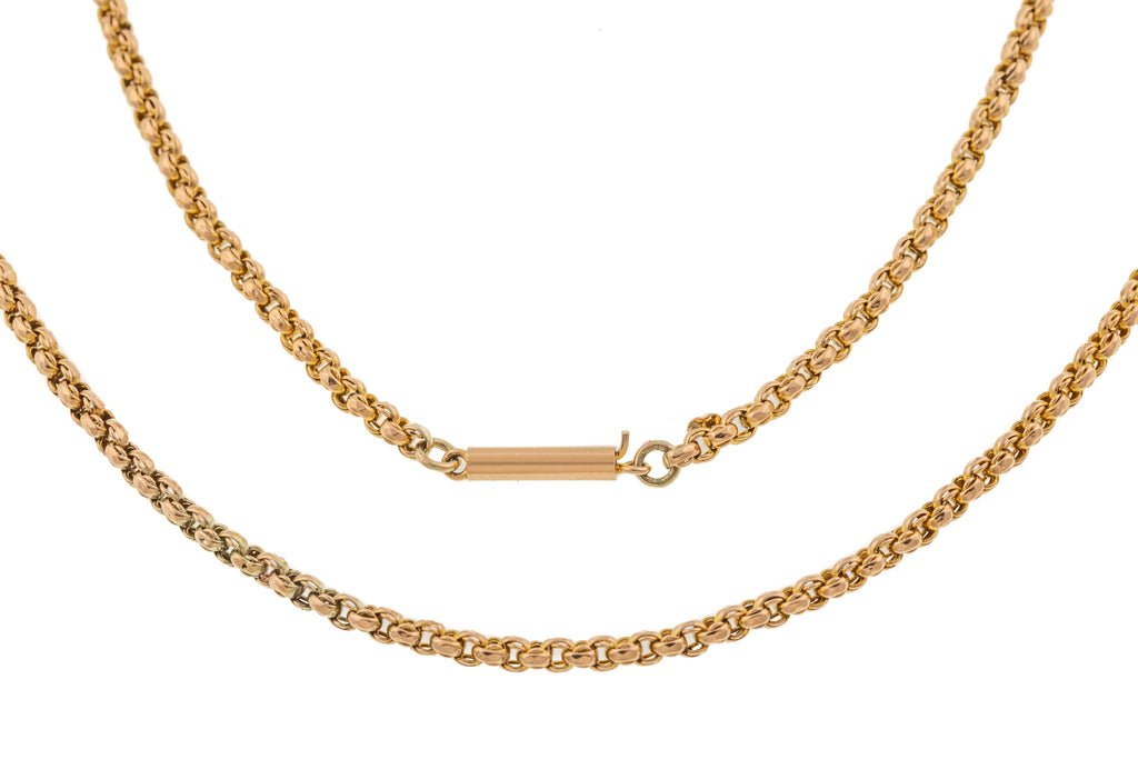 "17"" 9ct Gold Victorian Fancy Faceted Chain (7g)"