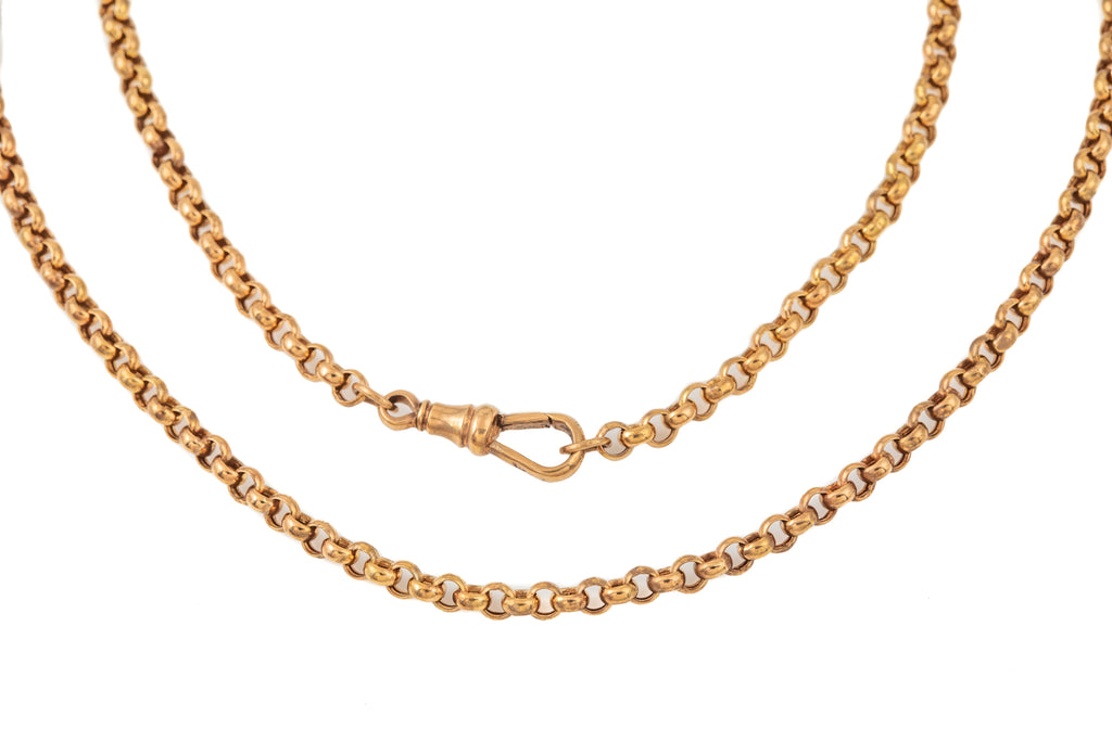 "Victorian Rose Gold Belcher Chain, 24"" (7.2g)"