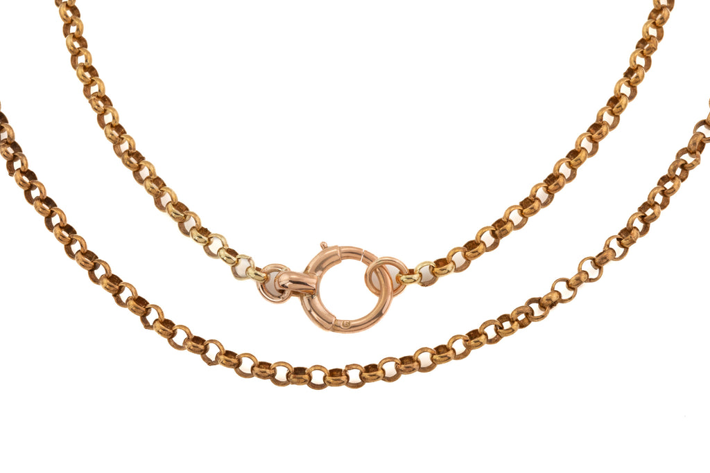 "Antique 9ct Gold 24.5"" Belcher Chain, (14.3g)"