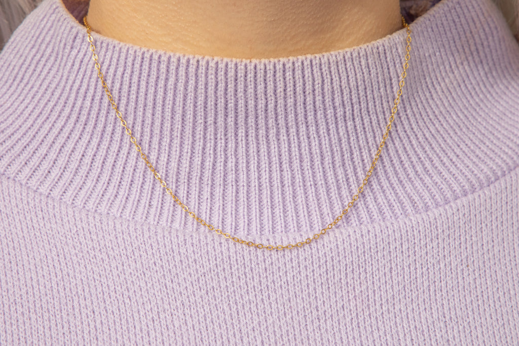"Solid 9ct Gold 16"" Pendant Chain (1.2g)"