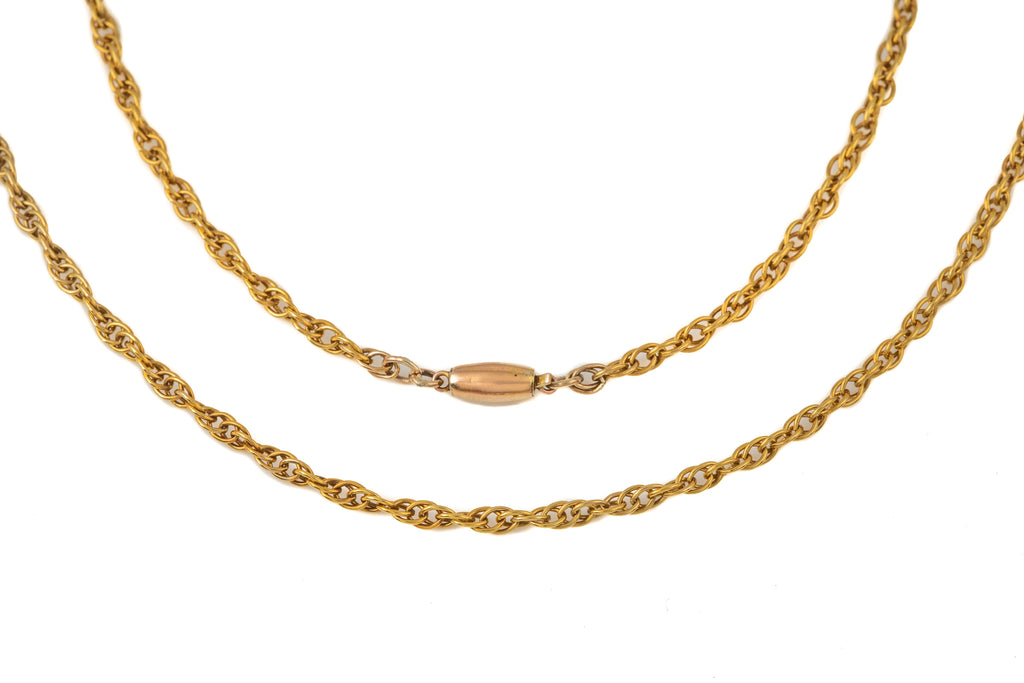 "Solid 9ct Gold Prince of Wales Chain, 25"" (7g)"