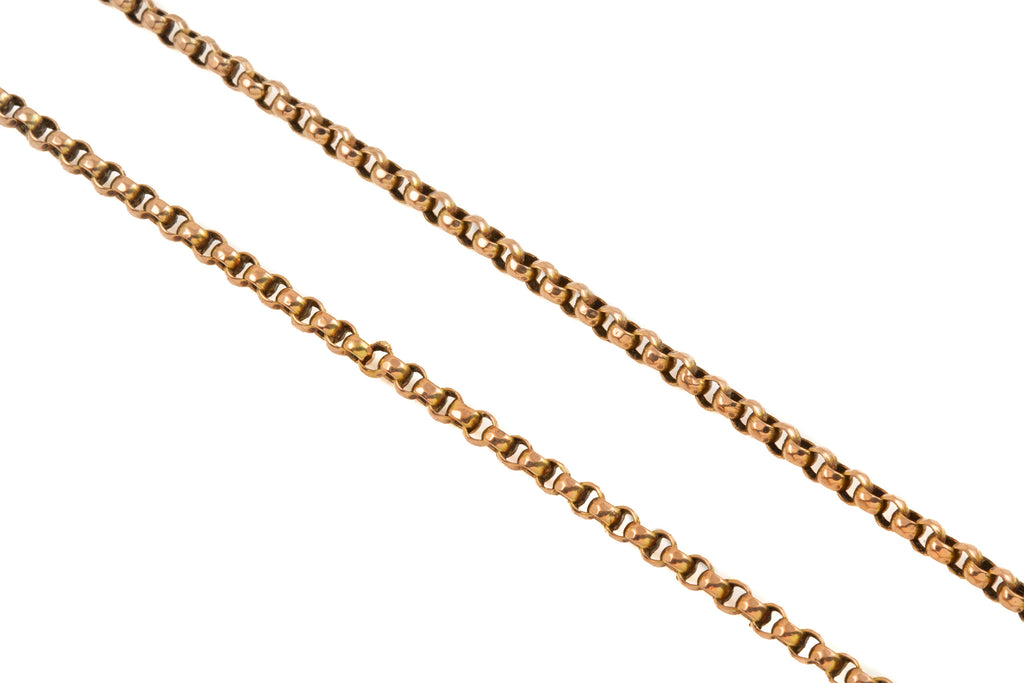 "Antique Gold Faceted Belcher Chain, 16 & 1/2"" (8.2g)"