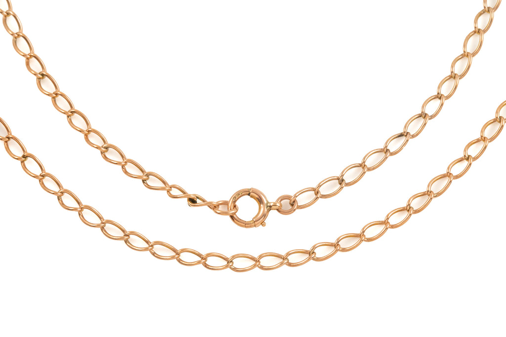 "Antique Rose Gold Twisted Curb Chain, 18 & 1/2"" (5.1g)"