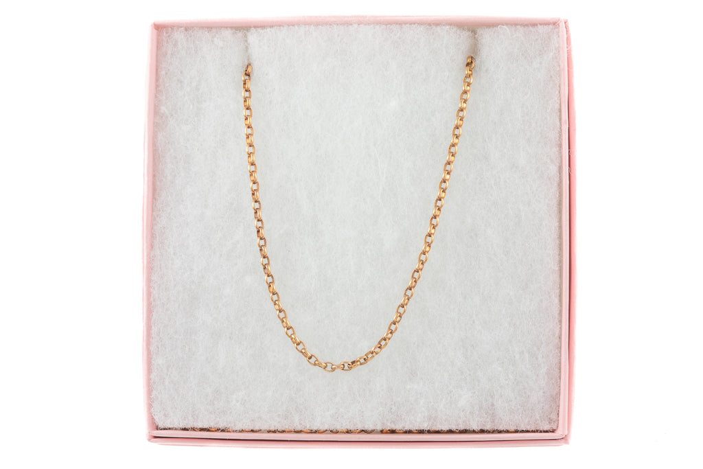 "Antique Rose Gold Belcher Chain, 25"" (7.6g)"