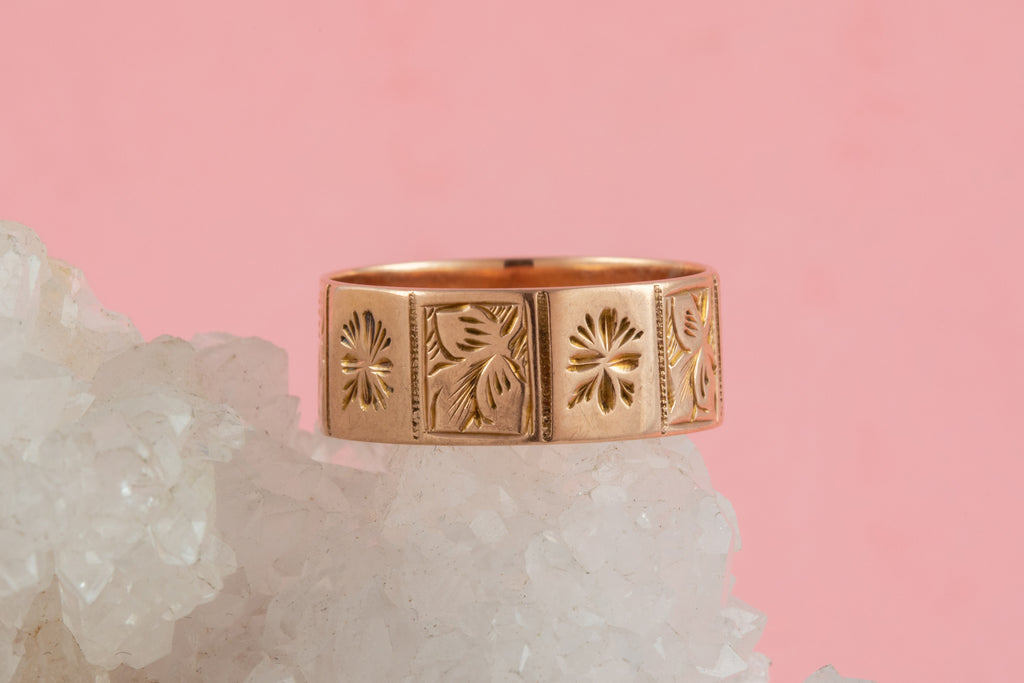 Victorian Rose Gold Cigar Ring, c.1891