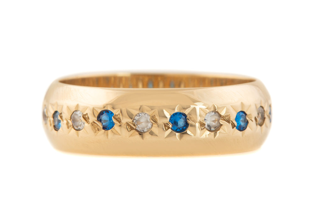 "Edwardian Gold Paste Eternity ""Gypsy"" Ring"