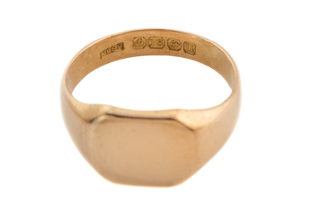 Art Deco 18ct Gold Signet Ring, c.1919