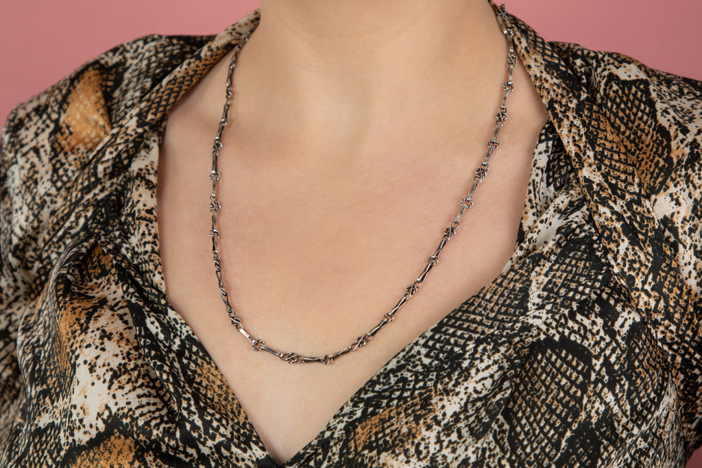 Austro-Hungarian Silver Knotted Chain, 24 & 1/4""
