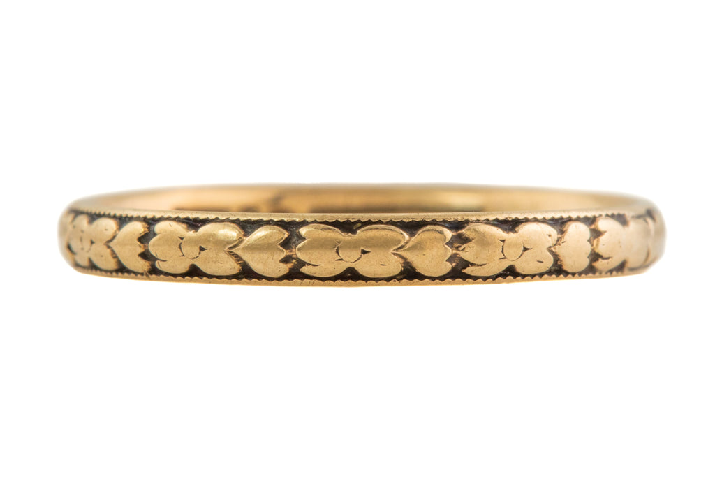 Art Deco Gold Wedding Band