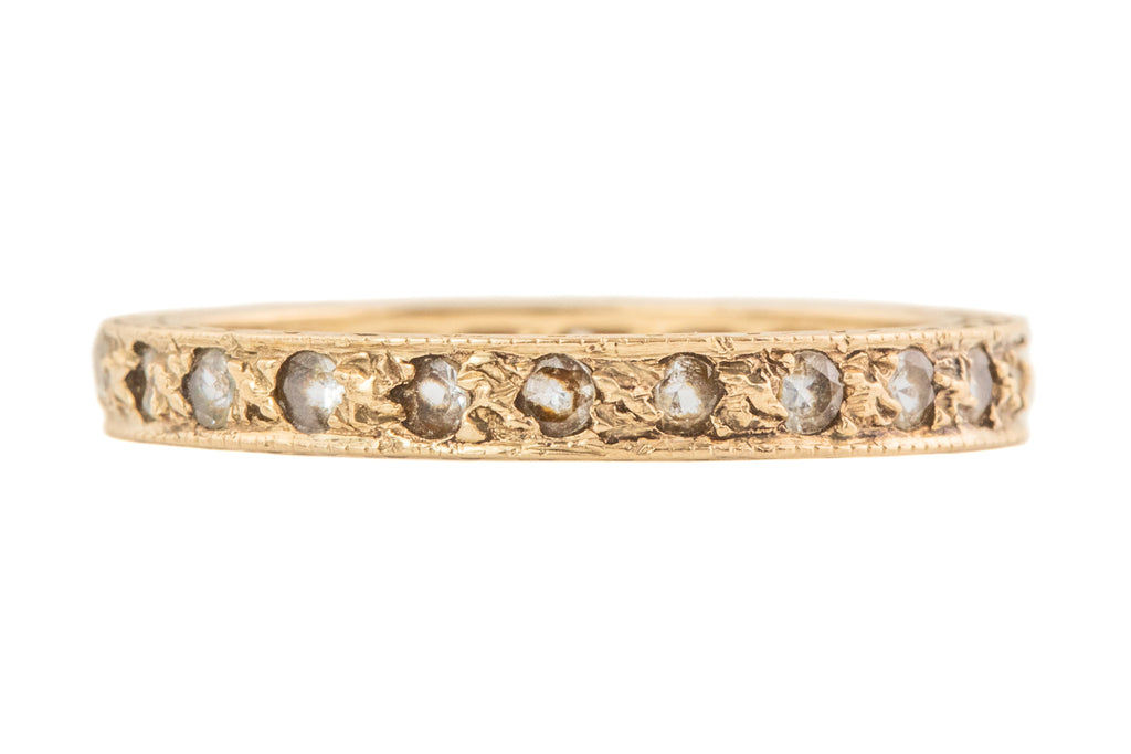 Art Deco Gold Spinel Eternity Ring, c.1926