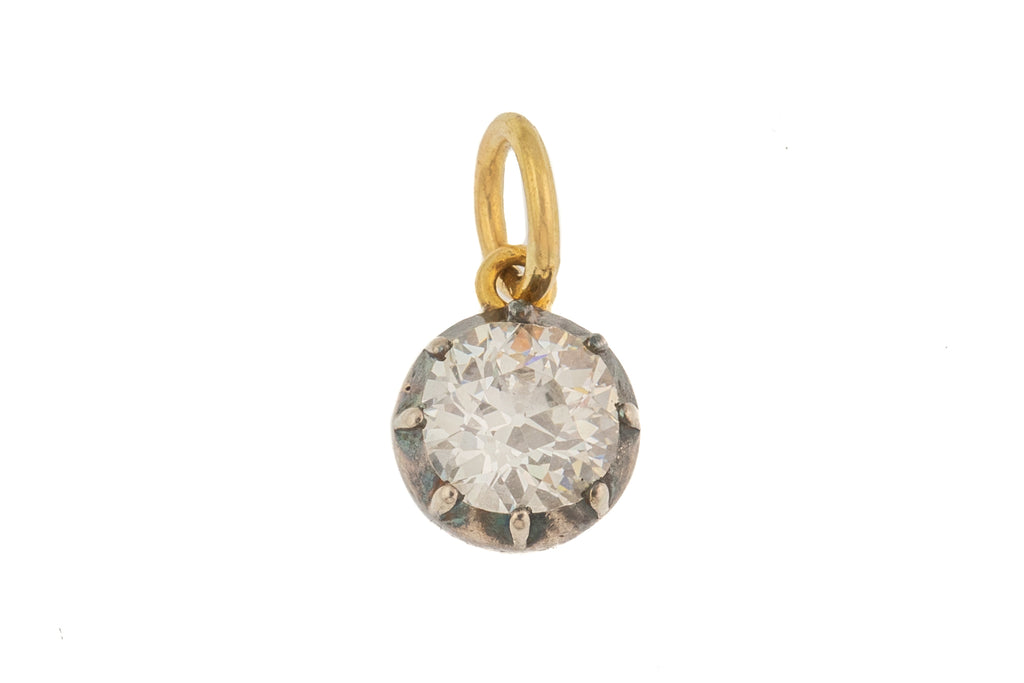 0.90ct Old European Cut Diamond pendant (I/J-VS)