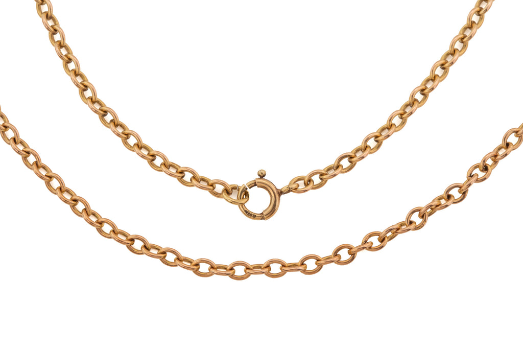 "Antique Gold Heavy Oval Chain, 30 & 3/4"" (15.4g)"