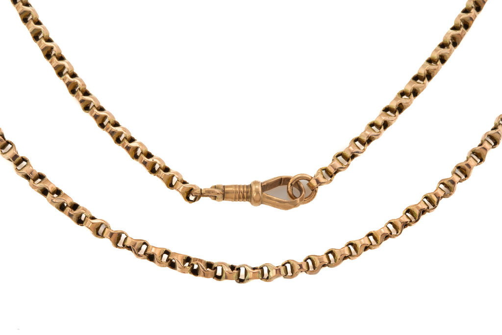 "Victorian 9ct Gold Chunky Belcher Chain, 19 & 3/8"" (10.9g)"