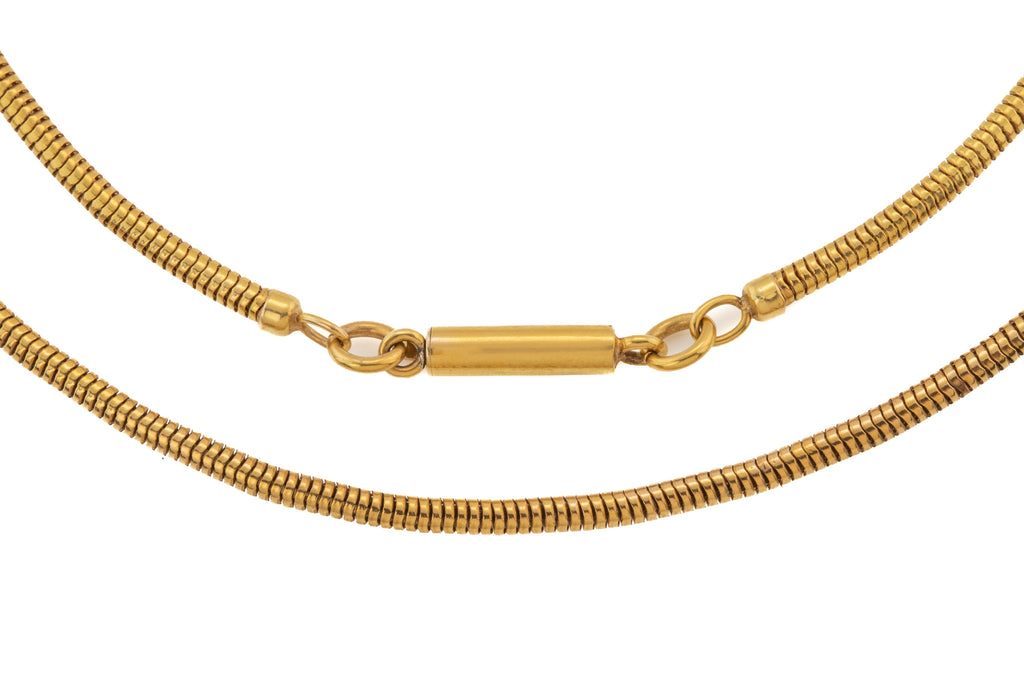 "Victorian Gold Thick Snake Chain, 16"" (13.1g)"