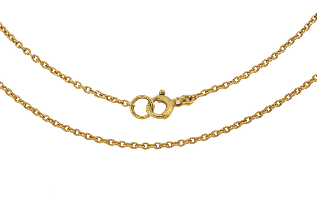 "Edwardian 16"" Gold Pendant Chain (2.1g)"