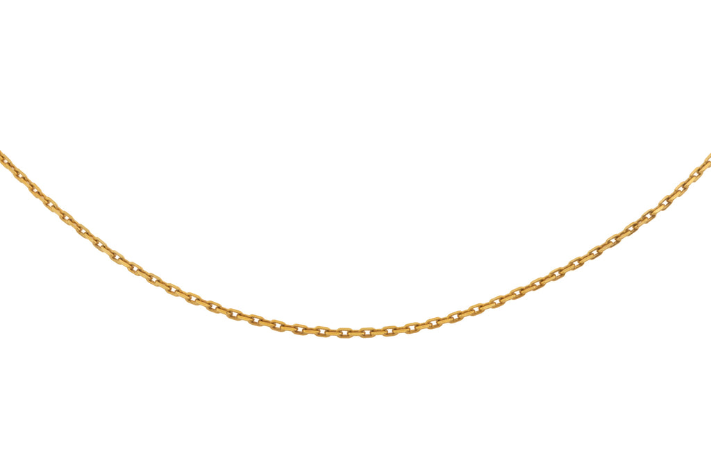 "Solid 9ct Gold 22"" Rectangular Skinny Link Chain (2.1g)"