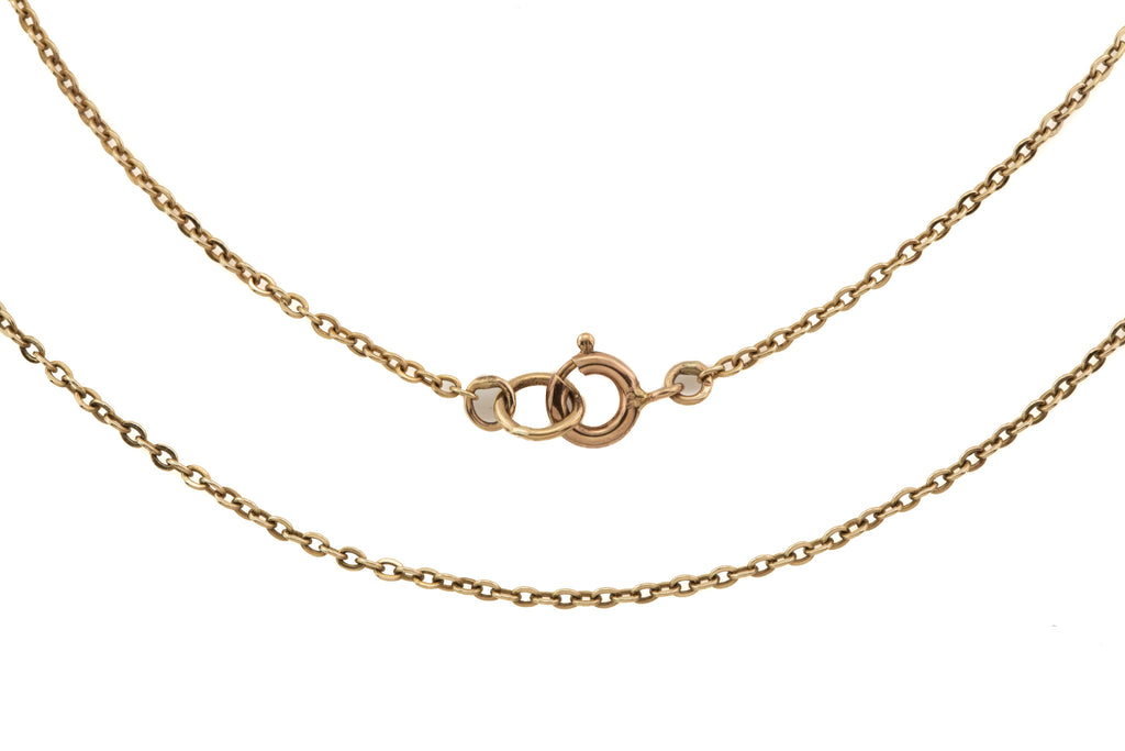"20.25"" Solid 9ct Gold Pendant Chain, (2.5g)"