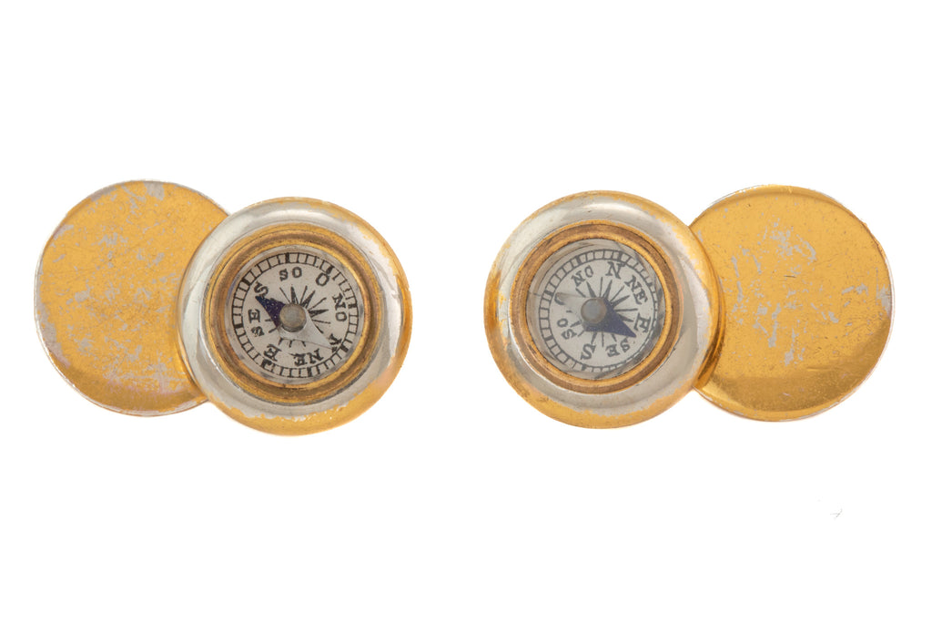 Antique German Compass Cufflinks