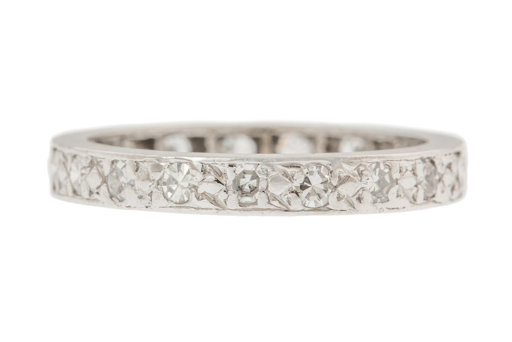Art Deco 18ct White Gold Diamond Eternity Ring (0.33ct)