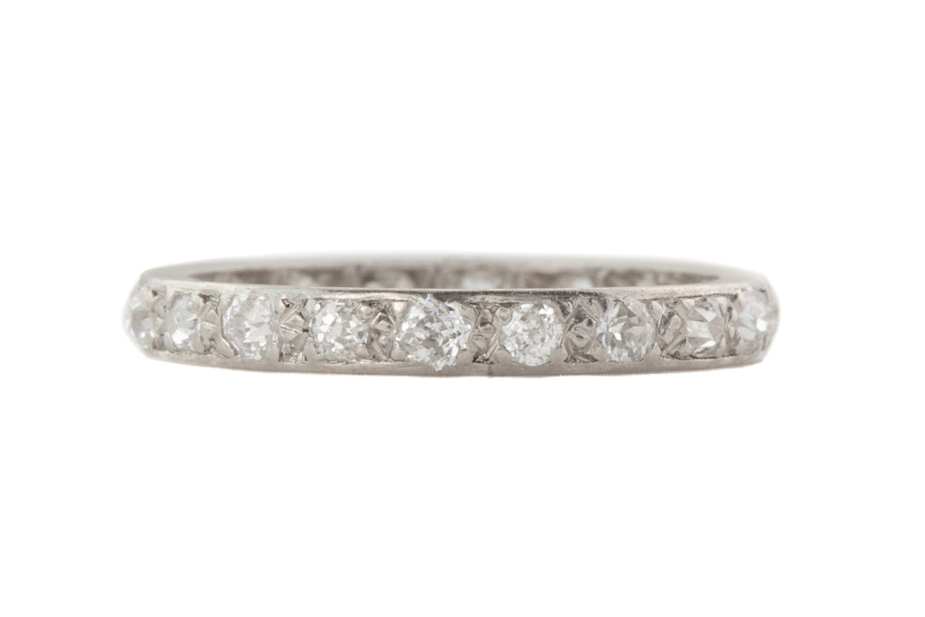Art Deco Platinum Diamond Eternity Ring, (0.33ct)
