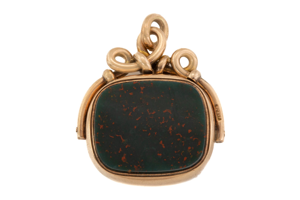 Victorian 9ct Gold Bloodstone Carnelian Fob