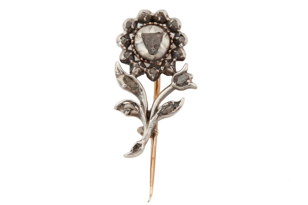 18th Century Georgian Silver Diamond Giardinetti Brooch