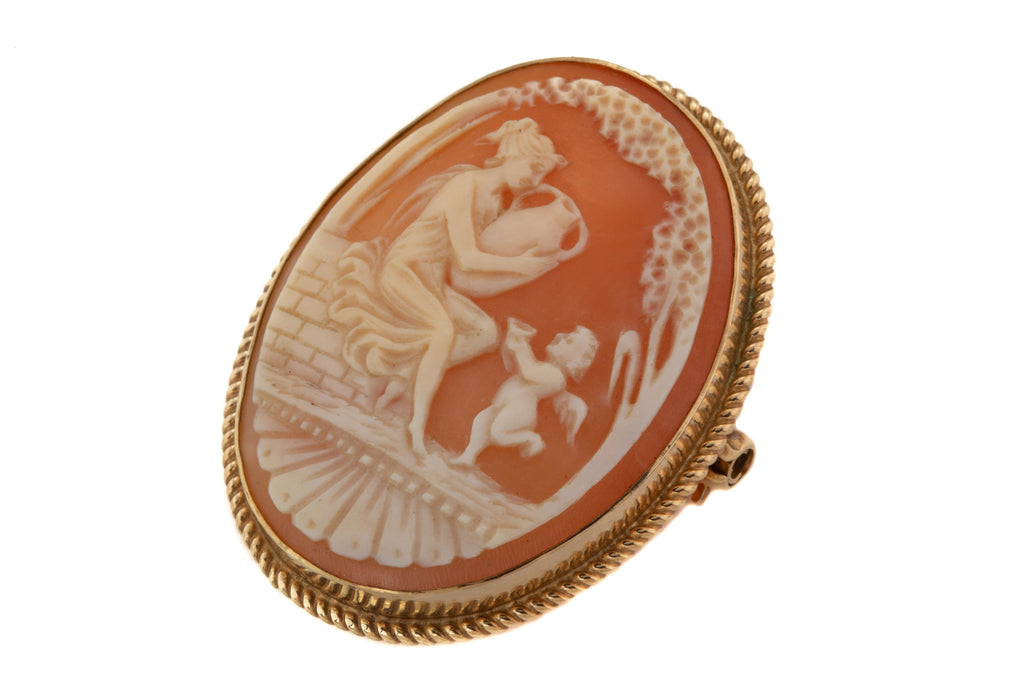 Victorian 9ct Gold Cameo Brooch