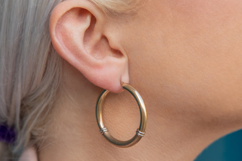 Large 9ct Gold Hoop Earrings