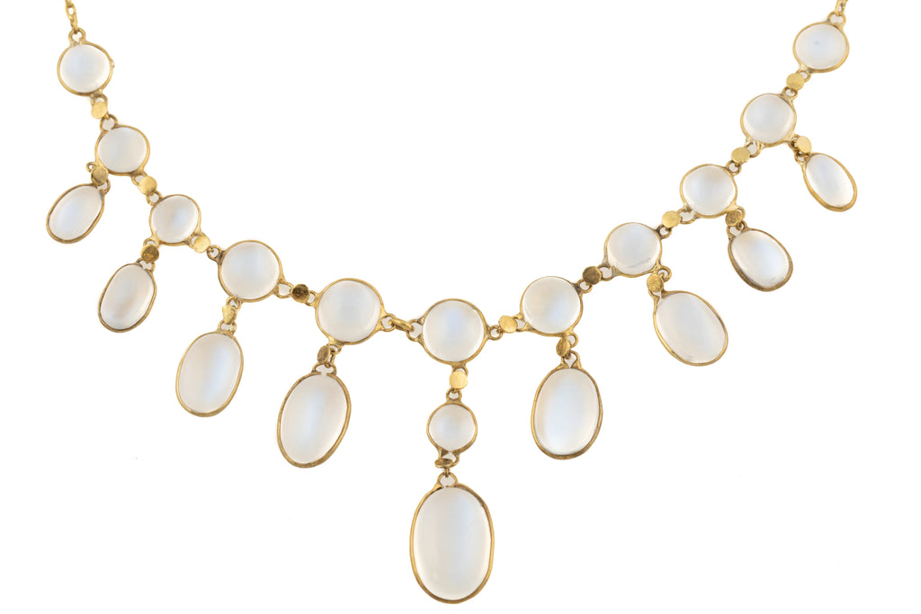 Antique Moonstone Necklace (17.00ct), in 9ct Gold