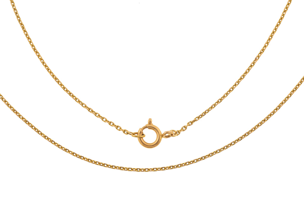 "Art Deco 24.5"" 18ct Gold Skinny Chain, (5.6g)"