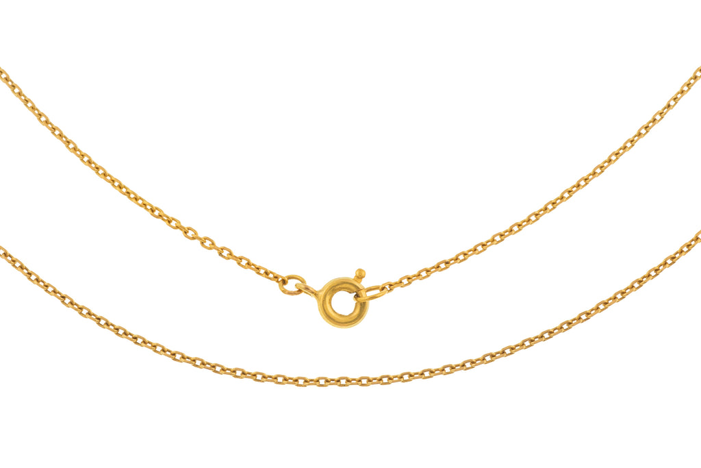 "Art Deco 24"" 18ct Gold Skinny Chain (2.9g)"