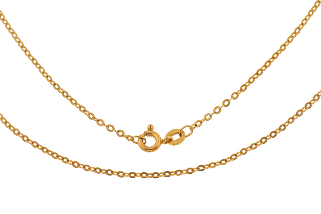 "Art Deco 20"" 18ct Gold Pendant Chain (3g)"